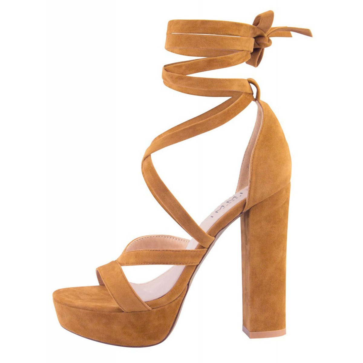 Amelia Nude Suede Lace Up Platform Heels : Simmi Shoes - Love Your Shoes!