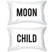 home accessory,moon,moonchild,pillow,pillow covers,white pillowcases,cotton pillow cases