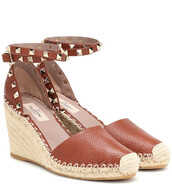 wedges,leather wedges,leather,brown,shoes
