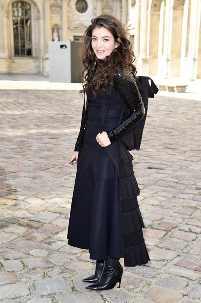 dress midi dress lorde fashion week 2015
