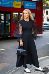 shoes,white shoes,bag,flats,dress,long dress,black dress