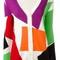 Boutique moschino block pattern cardigan, women's, size: 42, white, virgin wool