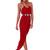 Red Longer Lengths Dress - Empire Maxi | UsTrendy