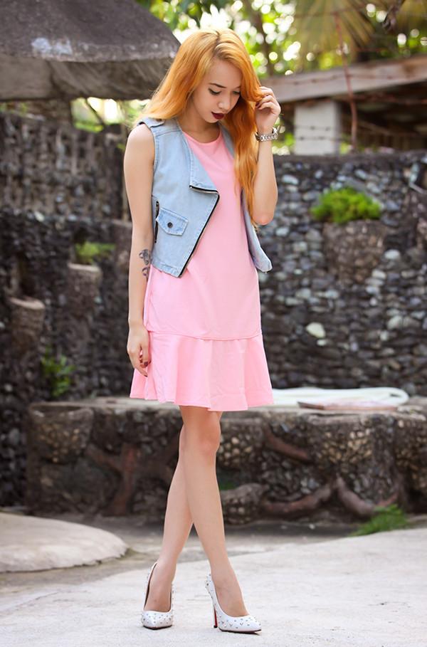 dress persunmall pink dress persunmall pink dress
