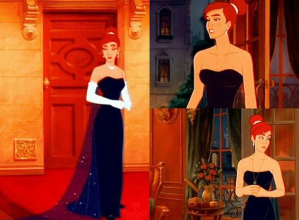 dress dark blue dress prom dress long dress anastasia dress