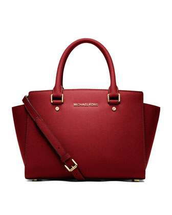 MICHAEL Michael Kors  Medium Selma Top-Zip Satchel - Michael Kors