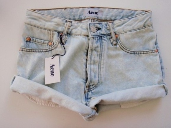 shorts denim light blue denim shorts tumblr acne studios