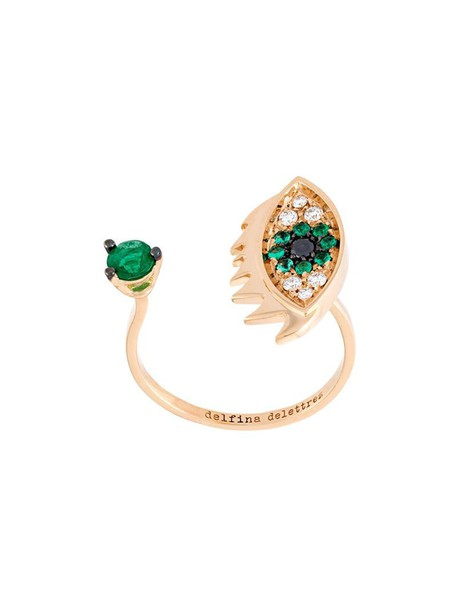 Delfina Delettrez eyes metallic women ring jewels