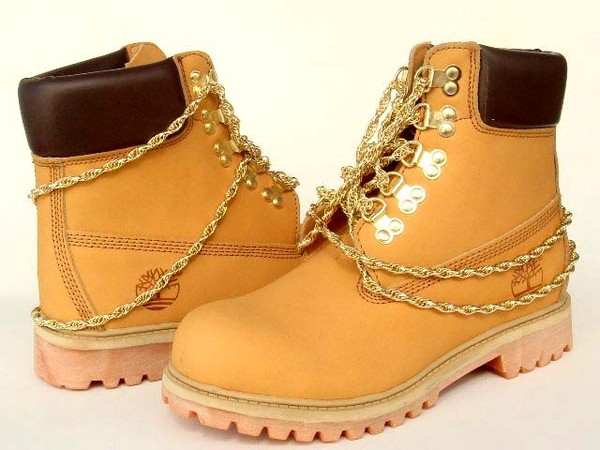 shoes timberlands timberlands and gold chain