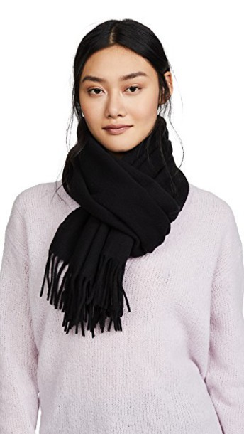 Acne Studios Canada Narrow Scarf in black