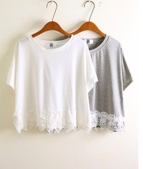 tank top cream top lace grey top