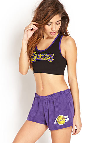 Los Angeles Lakers Shorts | FOREVER 21 - 2000073228