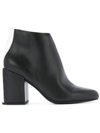 women leather black shoes