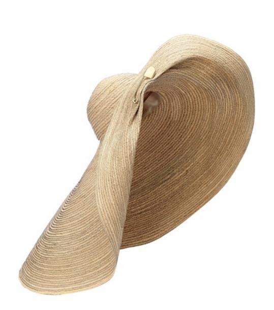 Lola Hats Giga Spinner raffia hat in neutrals