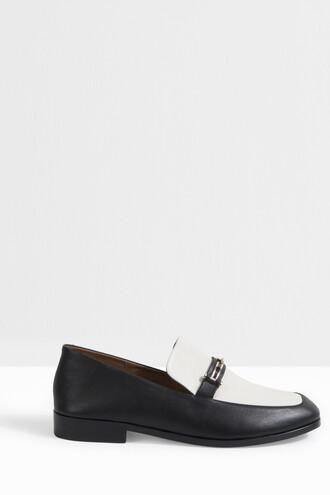 women loafers monochrome black shoes