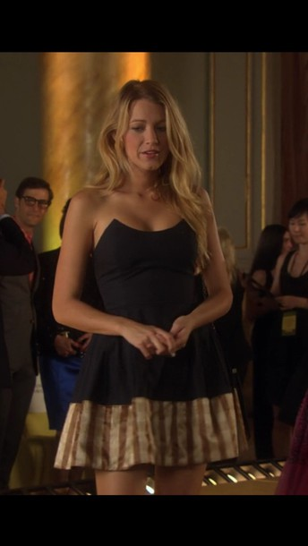 dress serena van der woodsen blake lively little black dress dress fashion show party