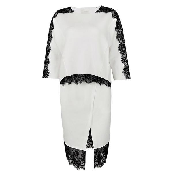 set suits two-piece dress 2014 lace dress 2 sets lace dress dress