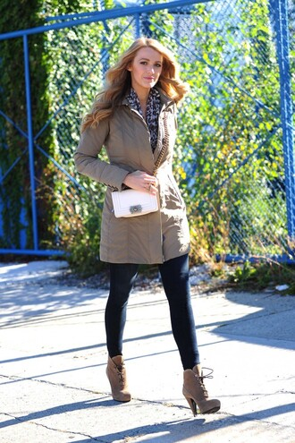 jacket ankle boots blake lively fall outfits