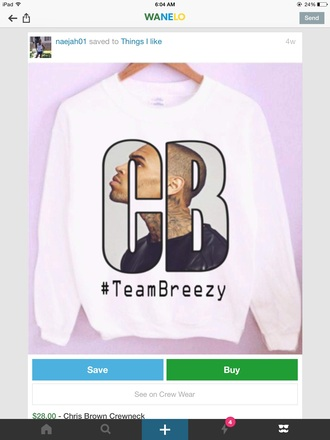 sweater chris brown white dope