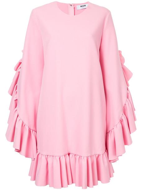 MSGM dress shift dress women spandex purple pink