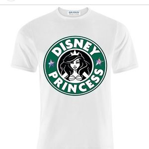 Disney princess starbucks unisex tee