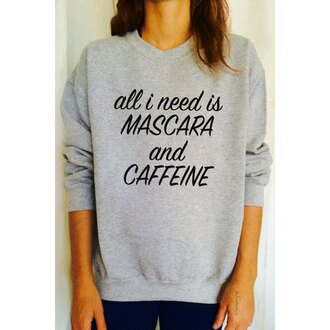 sweater grey long sleeves quote on it casual gray long sleeve letter print pullover sweatshirt for women fashion style comfy sporty