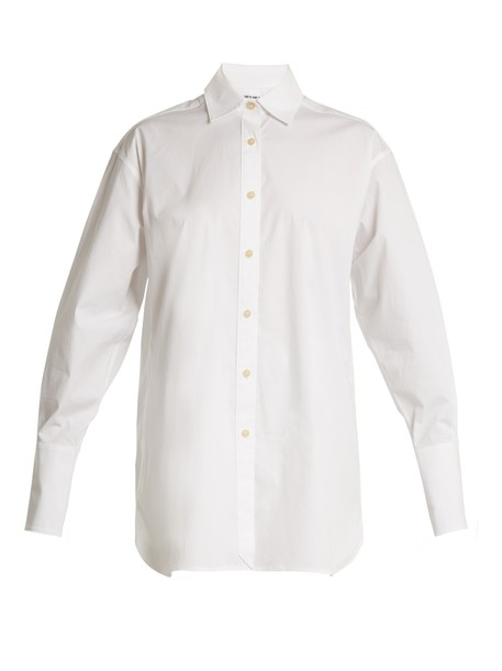 Elizabeth and James shirt cotton white top