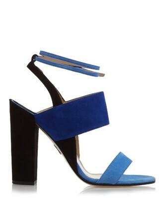 sandals suede blue shoes