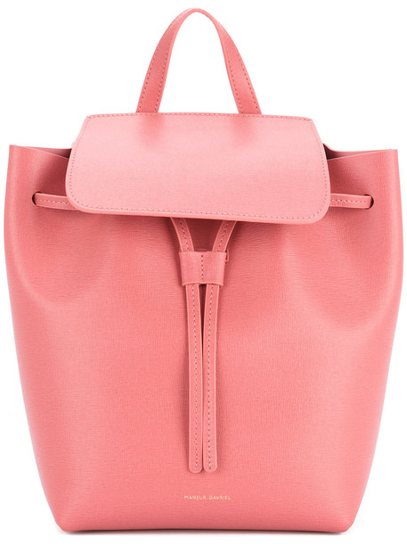 Mansur Gavriel women drawstring backpack leather purple pink bag