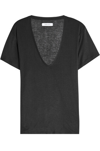 t-shirt shirt silk black top