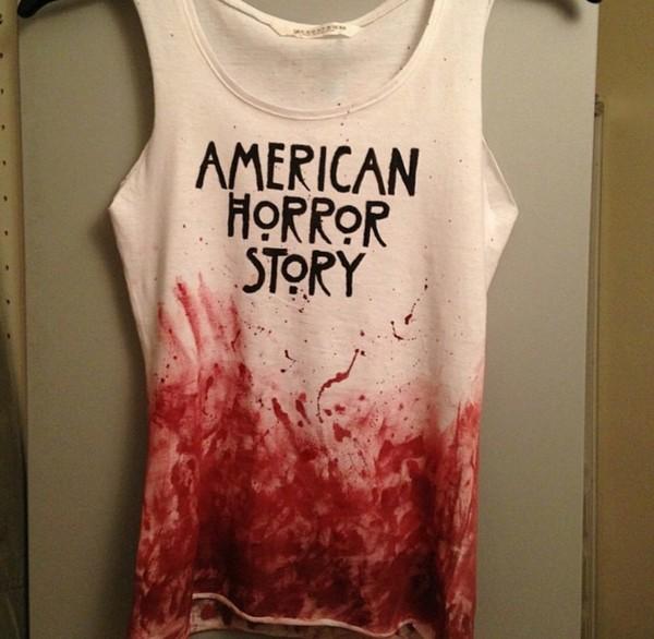 shirt american horror story tank top blood