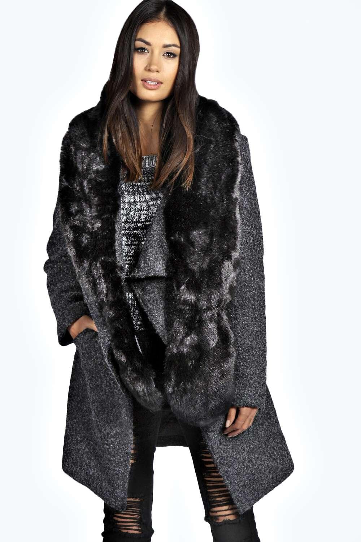 Megan Longpile Faux Fur Extra Long Scarf