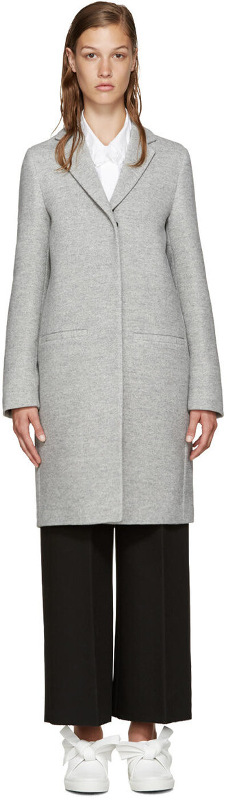 coat oversized grey