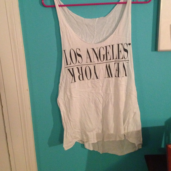 25% off Brandy Melville Tops - Brandy Melville Los Angeles-New York tank top from Margaux's closet on Poshmark