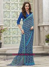 dress,georgette printed saree