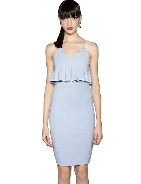 Dress: powder blue dress, fall outfits, cocktail dress, party ...