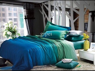 home accessory blue green sheets bedding pillow colorful blessings colorful bedding