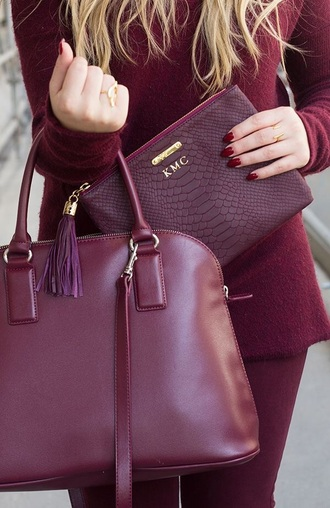 bag handbag burgundy bag burgundy