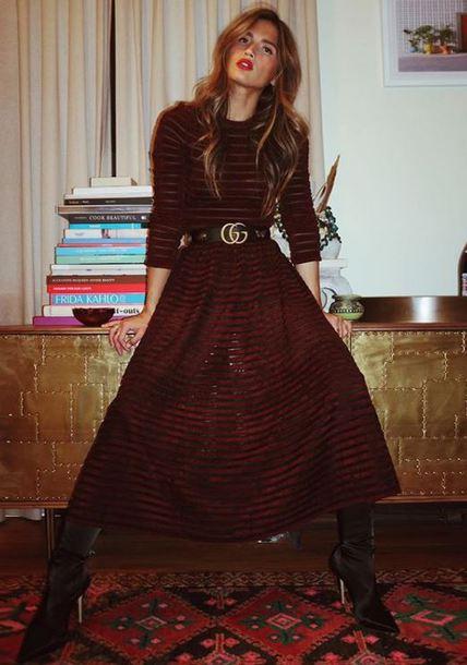 top velvet skirt rocky barnes blogger instagram maxi dress belt burgundy burgundy top