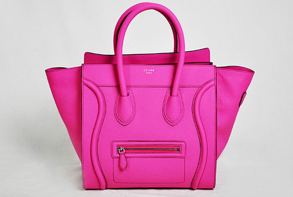 shop bag celine designer tote handle satchel luggage pink celine