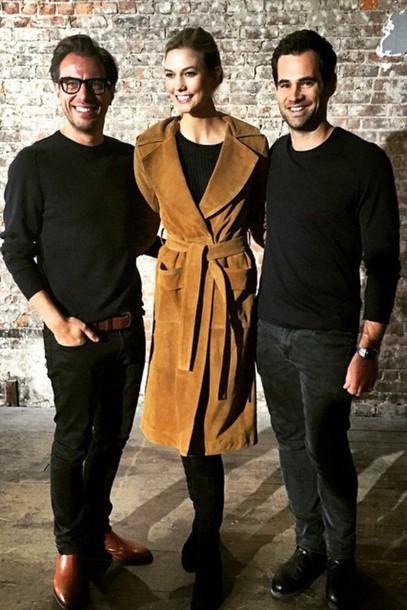coat fashion week 2015 karlie kloss