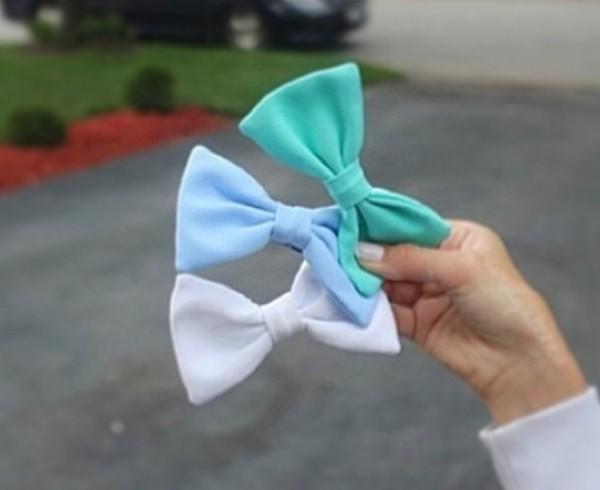 hat bows accesories hair blue