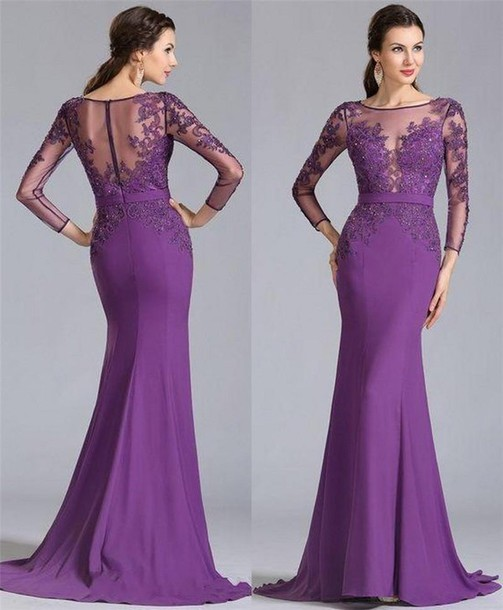 Plus size lace wedding dresses 2016 for Purple lace wedding dress