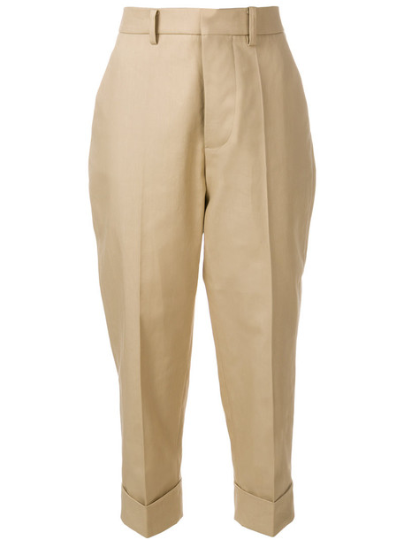 cropped women nude cotton pants
