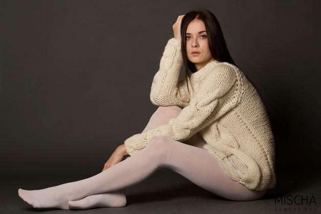 Pullover & Pullunder - Handgestrickter Pullover in Used-Look - ein Designerstück von mischa-demcakova bei DaWanda