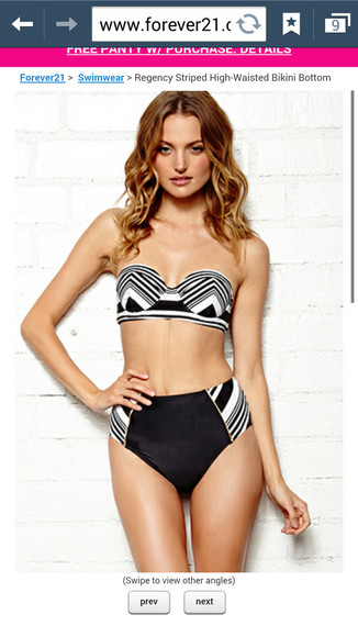 striped swimwear high waisted bikini forever 21
