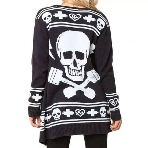 skull cardigan skull cardigan