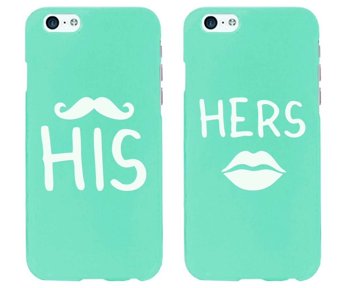 Amazon.com: His And Hers Mint Couples Matching Cell Phone Cases for iPhone 6 and iPhone 6 Plus: Cell Phones & Accessories