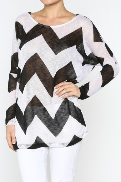 shirt tunic chevron burnout