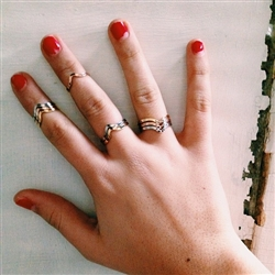 Nissa Jewelry Rings - Contemporary, vintage inspired jewelry, handmade in New York City